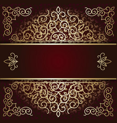Luxury background card with maroon and gold vector image vector image