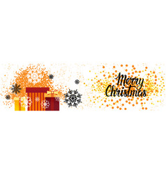 merry christmas horizontal banner holiday poster vector image