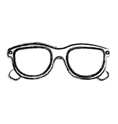 Monochrome sketch of 3d cinema glasses vector
