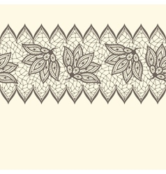 Old lace seamless pattern ornamental border vector image vector image