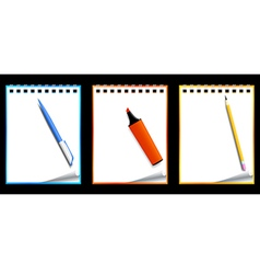 Paper notebooks vector image
