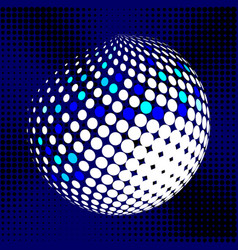 Set abstract halftone 3d spheres 29 vector