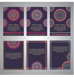 Set of flyer templates for business vector