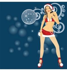 sexy santa surprise vector image