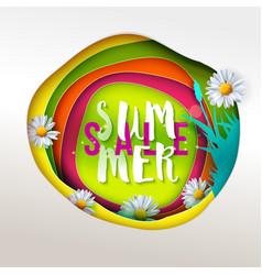 summer sale paper art vector image vector image