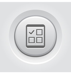 Tablet Check List Icon vector image
