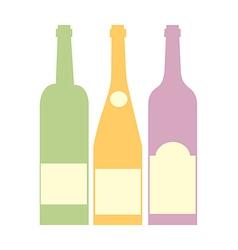 Three bottle of wine vector image vector image