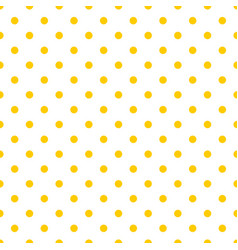 Tile pattern with white polka dots on yellow vector