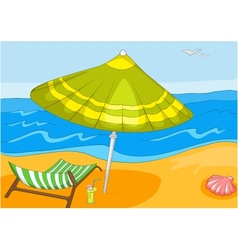 Beach cartoon vector