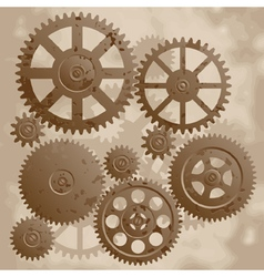 The old gears vector image