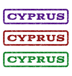 Cyprus watermark stamp vector