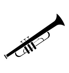 trumpet musician instrument icon pictogram vector image