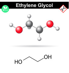 ethylene glycol organic chemical compound vector image