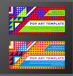 Pop art banners templates vector