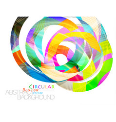 Abstract colors circular shape scene vector