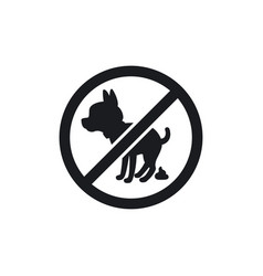 Black park sign with dog silhouette vector