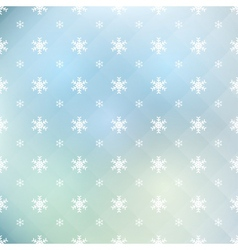Pattern of snowflakes vector