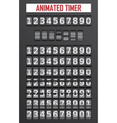 Animated timer vector