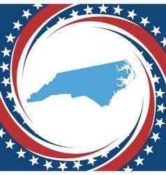 Vintage label North Carolina vector image