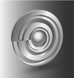 Abstract 3D shape icon vector image