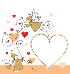 elves and hearts vector image