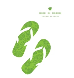 Abstract green and white circles flip flops vector