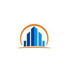 Building cityscape construction business logo vector
