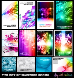 Dj poster collection vector