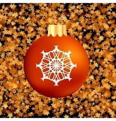 Christmas GlassRed Ball vector image