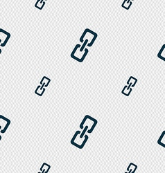 Link icon sign seamless pattern with geometric vector