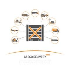 Cargo delivery concept vector