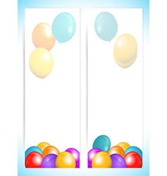 Balloons banners portrait background vector image