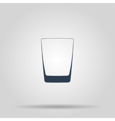 Glass of whiskey isolated photo-realistic vector