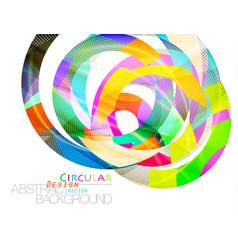 Abstract colors circular shape scene vector