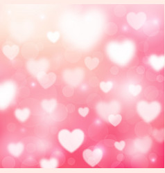 Abstract romantic pink background with hearts and vector