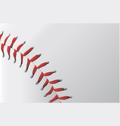 baseball stitching vector image