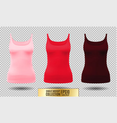 black and white tank top or vector image vector image