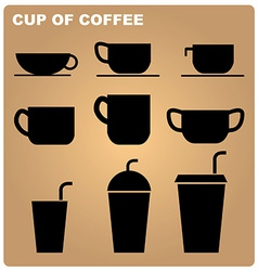 Coffee cup icon vector