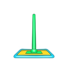 Floor cleaning mop icon cartoon style vector image vector image