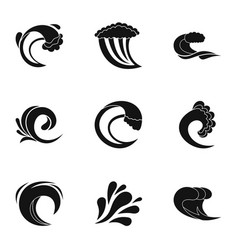 Fluctuation icons set simple style vector