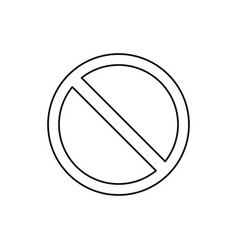 Forbidden sign cross vector