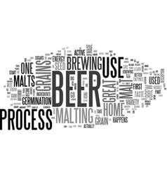 Great grains for a great beer text background vector