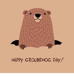 Happy Groundhog Day vector image vector image