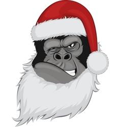 Head gorilla in a cap vector image