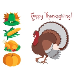 Icon set for thanksgiving vector