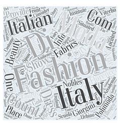 Italian fashion design school word cloud concept vector