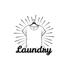laundry and dry cleaning logo emblem and design vector image
