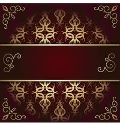 Luxury background card with maroon and gold vector