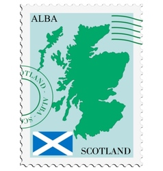 Mail to-from scotland vector