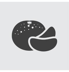 Mandarin icon vector